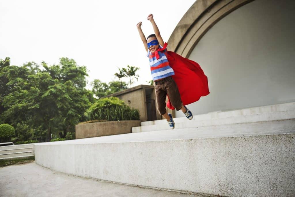 Kid Dressup Superhero Fly Concept